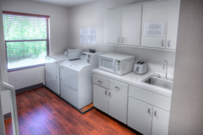 A washing machine and dryer are available for guests.