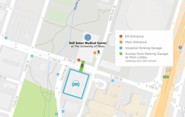 Dell Seton Parking Map