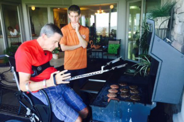 Image for Students Help Paralyzed Patient BBQ Again