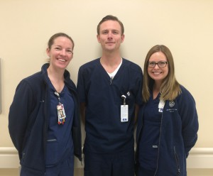 From left to right: Cassidy Rogers RN, BSN, Jeffery Bothof RN, BSN, Mallory Davis RN, BSN.