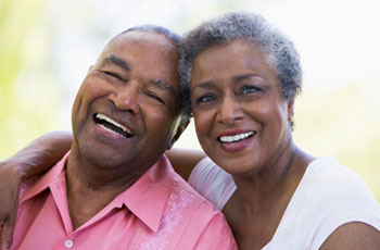 happy older african american couple