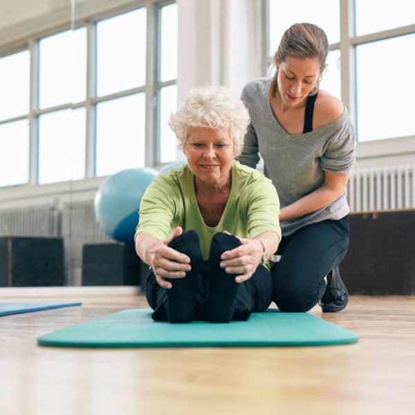 older woman in physical therapy