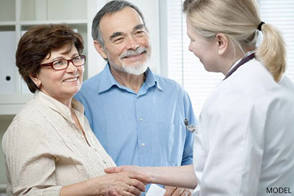 mature couple in doctor consultation