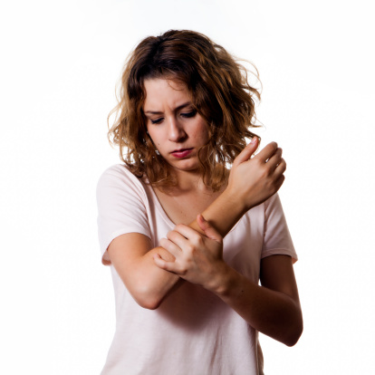 woman with arm pain