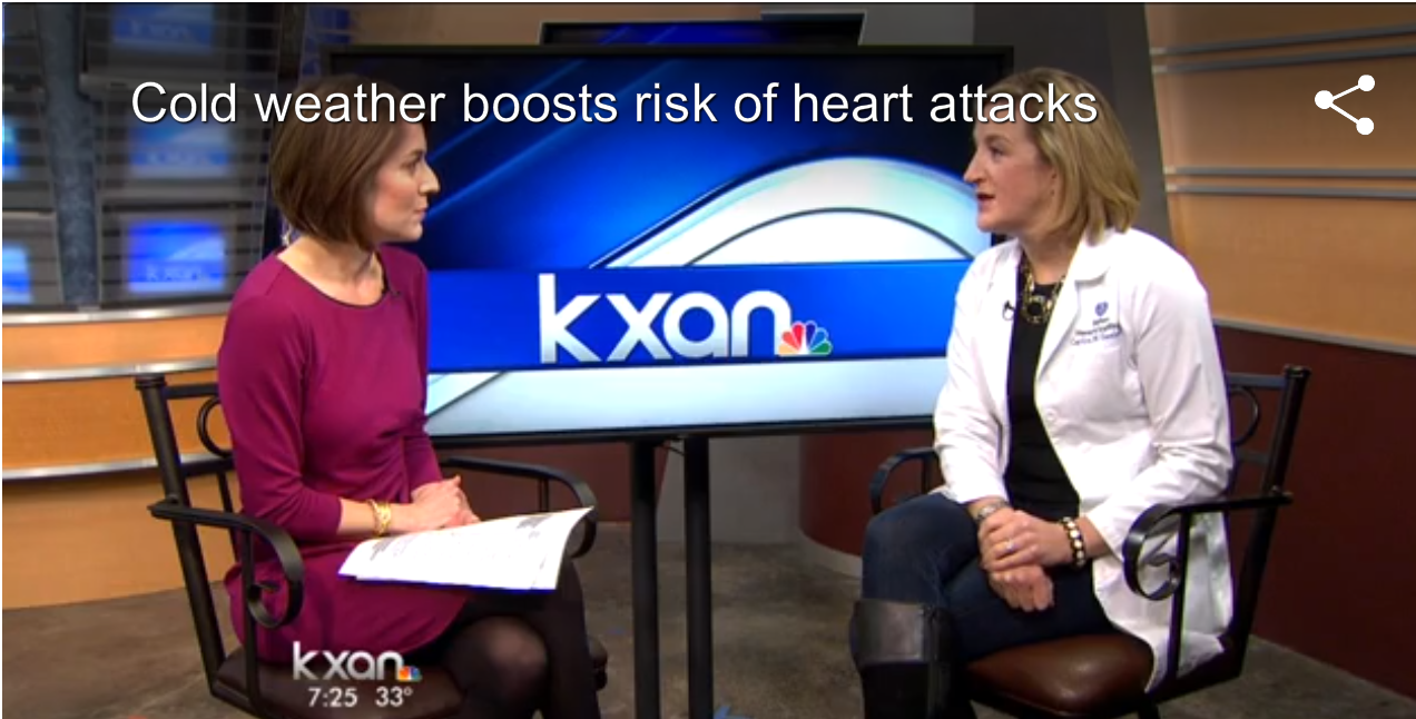 Image for Cold weather boosts risk of heart attacks featured on KXAN.com